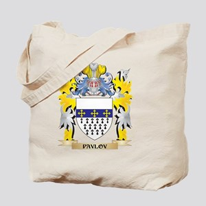 Pavlov Family Crest - Coat of Arms Tote Bag
