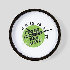 LOST Luckiest Man Wall Clock