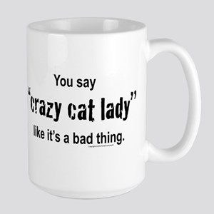 Cat Lady Large Mug