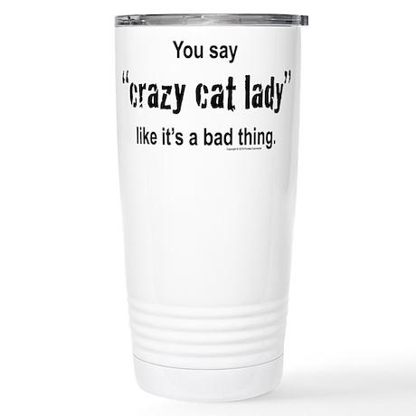 Cat Lady Stainless Steel Travel Mug
