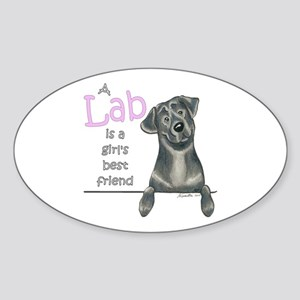 Black Lab BF Sticker (Oval)