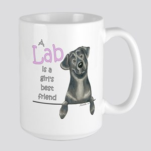 Black Lab BF Large Mug