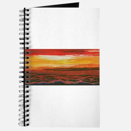 Cute Red sunrise Journal