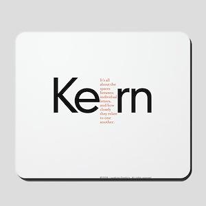 Kerning Mousepad