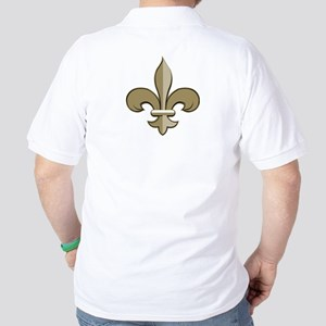 Fleur de lis black gold Golf Shirt