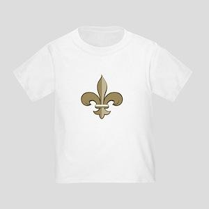 Fleur de lis black gold Toddler T-Shirt