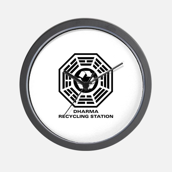 DHARMA Recycling Station Wall Clock