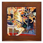 Riccoboni Carousel Horse Framed Tile