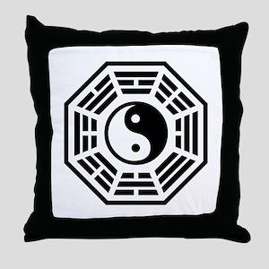 LOST DHARMA Yin Yang Throw Pillow