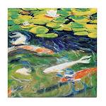 Riccoboni Koi Pond Tile Coaster