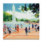 Fountain by Riccoboni Tile Coaster