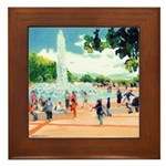 Fountain by Riccoboni Framed Tile