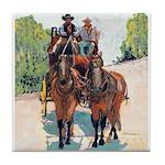 Stagecoach Days by Riccoboni Tile Coaster