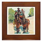 Stagecoach Days by Riccoboni Framed Tile