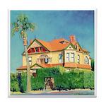 Victorian House by Riccoboni Tile Coaster