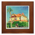 Victorian House by Riccoboni Framed Tile