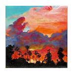 California Sunset by Riccoboni Tile Coaster