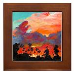California Sunset by Riccoboni Framed Tile