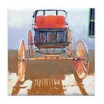 Old Horse Buggy Tile Coaster