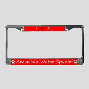 Red I Love My American Water Spaniel Frame