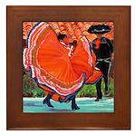 Dancers - Old Town Framed Tile