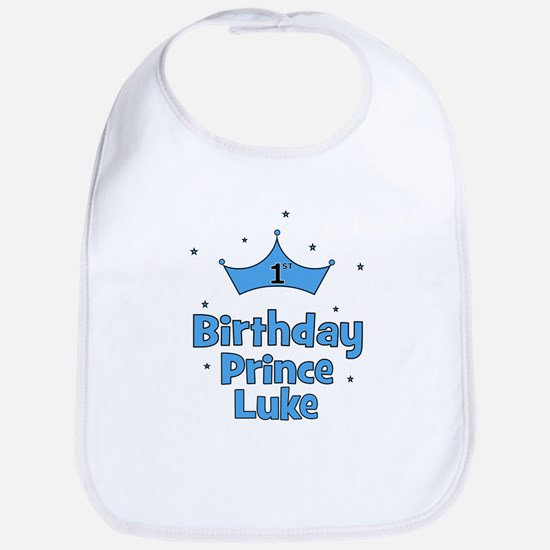 1st Birthday Prince LUKE! Bib