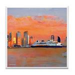 San Diego Sunset Tile Coaster