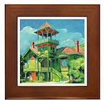 San Diego California Victorian Framed Tile