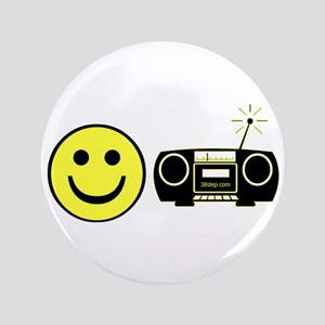 "Happy Radio Line Dance 3.5"" Button"