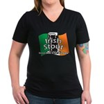 Irish Stout Women's V-Neck Dark T-Shirt