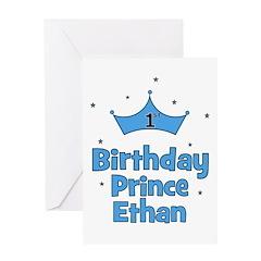 1st Birthday Prince ETHAN! Greeting Card