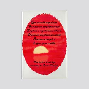 Red LOST Vampire Boone Rectangle Magnet