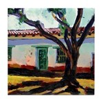 Pepper Tree and Adobe Tile Coaster