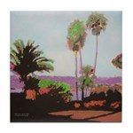 La Jolla Cove Palms Tile Coaster