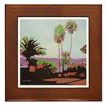 La Jolla Cove Palms Framed Tile