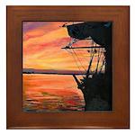 San Diego Sunset Framed Tile