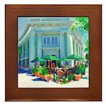 Sidewalk Cafe Coronado Framed Tile