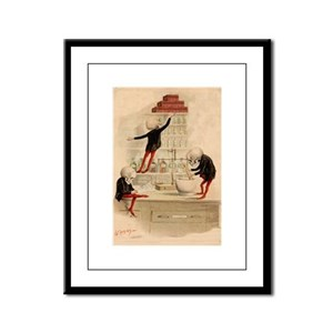 Pas De Substitution Framed Panel Print