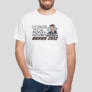 Scott Brown Anti Obama White T-Shirt