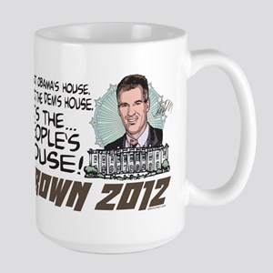 Scott Brown Anti Obama Large Mug