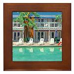 Poolside San Diego Framed Tile