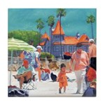 Baby's Beach Day Tile Coaster
