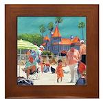 Baby's Beach Day Framed Tile