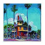 San Diego Victorian Mansion Tile Coaster