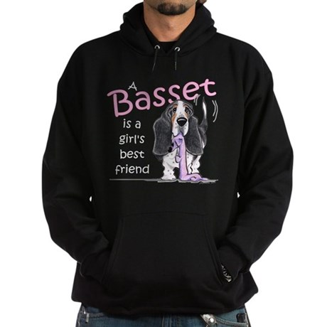 Basset Girls Friend Hoodie (dark)