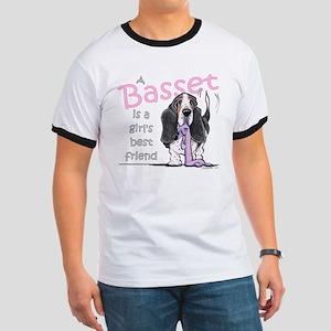 Basset Girls Friend Ringer T