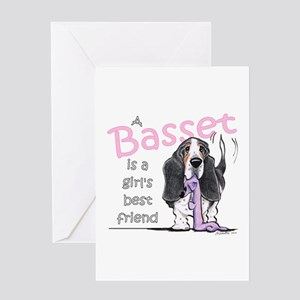 Basset Girls Friend Greeting Card