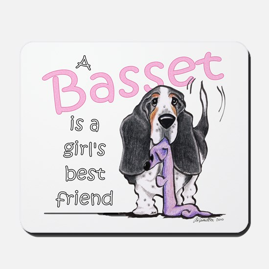 Basset Girls Friend Mousepad