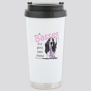 Basset Girls Friend Stainless Steel Travel Mug