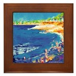 La Jolla Cove Beach Framed Tile